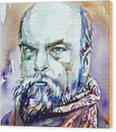Paul Verlaine - Watercolor Portrait.1 Wood Print