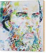 Paul Verlaine - Watercolor Portrait.2 Wood Print