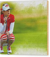 Paula Creamer - The Ricoh Women British Open Wood Print