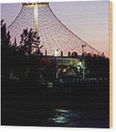 Pavilion At Twilight II Wood Print