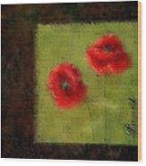 Pavot - 027023222-bl02 Wood Print