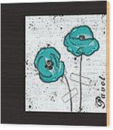 Pavot - S05-02a Wood Print