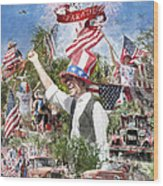 Pawleys Island 4th Of July Wood Print