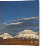Payachatas Volcanos Chile Wood Print