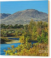 Payette River And Squaw Butte Wood Print