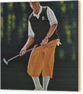 Payne Stewart Wood Print by Paul Meijering