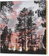 Payson Pines Sunset Wood Print