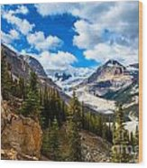 Payto Lake Glacier  Wood Print by Chris Heitstuman