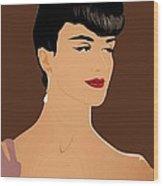 Paz Vega Elegant Model 4 Wood Print