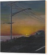 Pch At Night Wood Print by Lindsay Frost