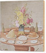 Pd.869-1973 Still Life With A Vase Wood Print