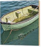 Pea-green Boat Wood Print
