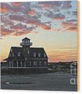 Oregon Inlet Life Saving Station 2693 Wood Print