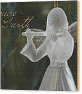 Peace Angel Wood Print