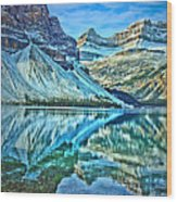 Peace At Bow Lake Wood Print