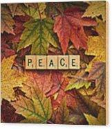 Peace-autumn Wood Print