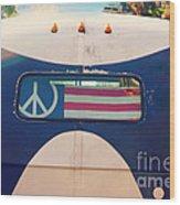 Peace Bus Wood Print