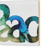 Peace Full 13 Wood Print