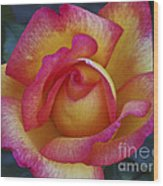 Peace In Floral Format Wood Print