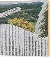 Peace Joy Love Wood Print
