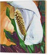 Peace Lily 2 Wood Print