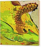 Peace Lily Waning Wood Print