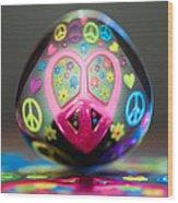 Peace Love Spoon Wood Print
