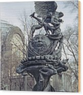 Peace Sculpture In New York Wood Print