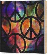Peace Series Viii Wood Print
