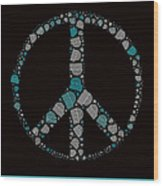 Peace Symbol Design - 87d Wood Print by Variance Collections