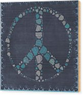 Peace Symbol Design - Btq19at2 Wood Print by Variance Collections