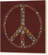 Peace Symbol Design - S05d Wood Print