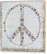 Peace Symbol Design - S76at02 Wood Print
