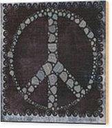 Peace Symbol Design - S79bt2 Wood Print