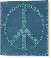Peace Symbol Design - Tq19at02 Wood Print by Variance Collections