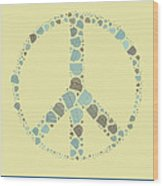 Peace Symbol Design - Y87d Wood Print by Variance Collections