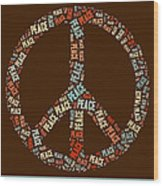 Peace Symbol Retro - 0103b  Wood Print