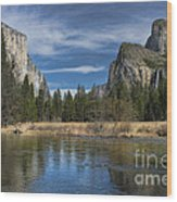 Peaceful Afternoon In Yosemite Wood Print