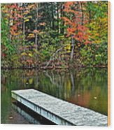 Peaceful Autumn Day Wood Print