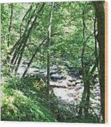 Peaceful Brook Wood Print