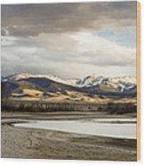 Peaceful Day In Helena Montana Wood Print
