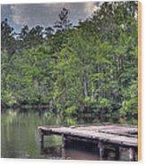 Peaceful Dock Wood Print by David Troxel