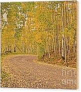 Peaceful Drive Wood Print