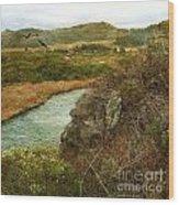 Peaceful Estuary In Carmel Wood Print