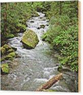 Peaceful Flowing Waters Wood Print