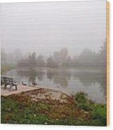 Peaceful Foggy Morning Marr Park Wood Print