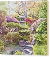Peaceful Garden Wood Print