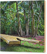 Peaceful Garden Wood Print