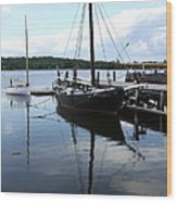 Peaceful Harbor Scene - Ct Wood Print