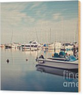 Peaceful Harbour Wood Print
